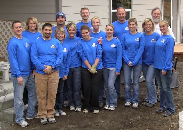 Helping build a Habitat for Humanity house on the Palouse.