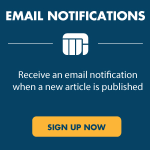 Receive an email notification when a new article is published. Sign up now